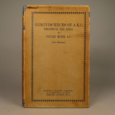 Image for Reminiscences of a K.C.; Theatrical and Legal. Together with Letter from Author.
