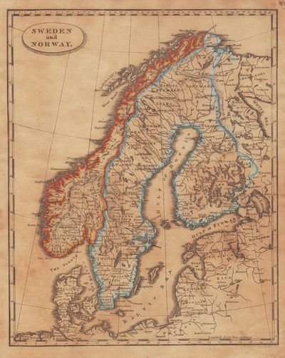Image for [Map of] Sweden and Norway