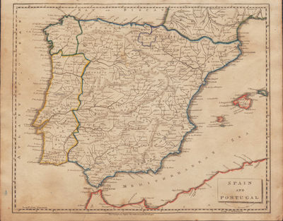 Image for Map of Spain and Portugal