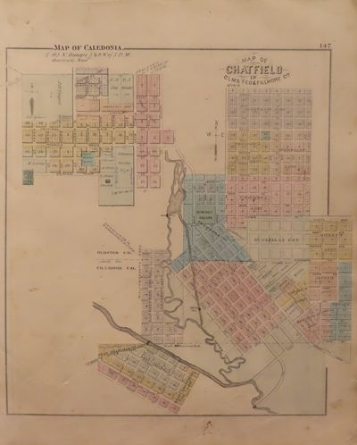 Image for Map of Houston County 1874 - from Illustrated Historical Atlas of the  State of Minnesota