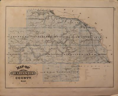 Image for Map of Wabasha County 1874 - from Illustrated Historical Atlas of the  State of Minnesota