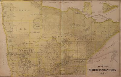 Image for Map of Northern Minnesota 1874 - from Illustrated Historical Atlas of the State of Minnesota