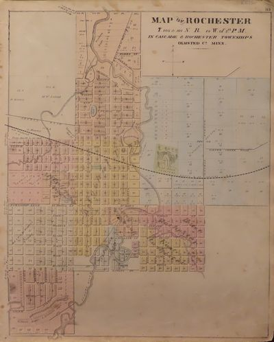Image for Map of Rochester 1874 - from Illustrated Historical Atlas of the State of  Minnesota
