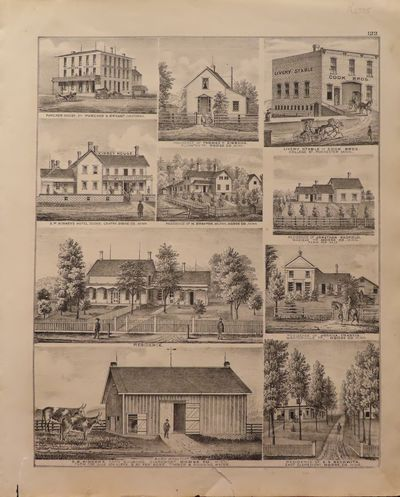 Image for Lithographs of Buildings in Dodge County 1874 - from Illustrated  Historical Atlas of the State of Minnesota