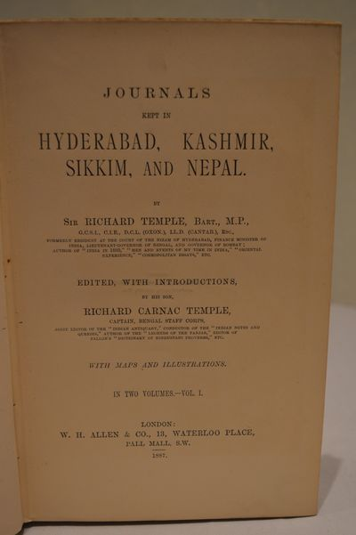 Image for Journals Kept in Hyderabad, Kashmir, Sikkim and Nepal. (2 vol. set)