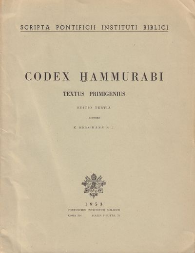 Image for Codex Hammurabi. Textus Primigenius.