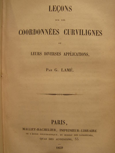 Image for Lecons sur les Fonctions Inverses des Transcendantes et les Surfaces  Isothermes WITH Lecons sur les Coordonnees Curvilignes et leurs Diverses  Applications WITH Lecons sur la Theorie Analytique de la Chaleur. Copy of  Percy Alexander MacMahon.