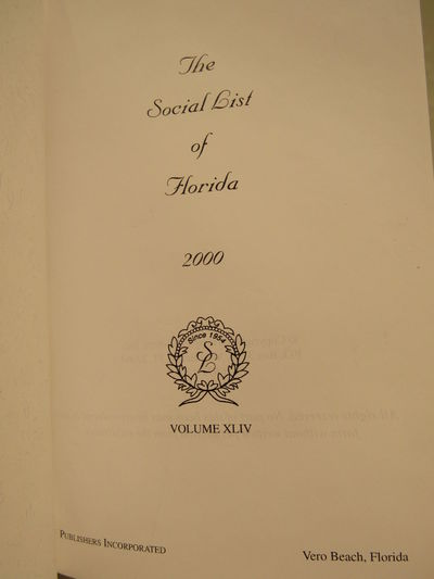 Image for The Social List of Florida for 2000