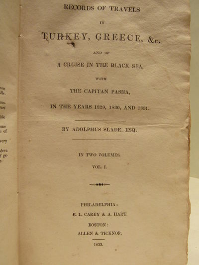 Image for Records of Travels in Turkey, Greece, &c. and of a Cruise in the Black  Sea, with the Capitan [sic] Pasha, in the years 1829, 1830 and 1831. (2  vol. set)