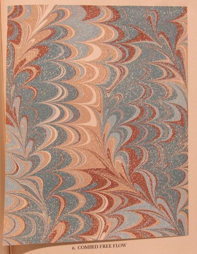 Image for Marbled Papers, being a collection of twenty-two contemporary hand-marbled  papers, showing a variety of patterns and special techniques.