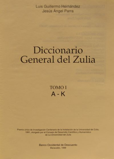 Image for Diccionario General del Zulia [Two Volumes]