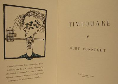 Image for Timequake. Special presentation copy.