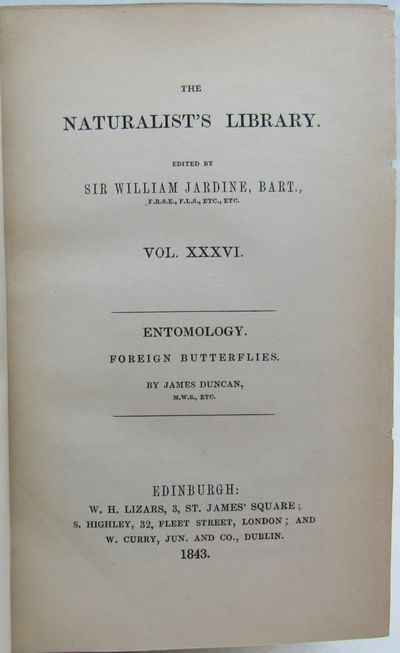 Image for Foreign Butterflies. The Naturalist's Library. Volume XXXVI. Entomology.  Volume III.