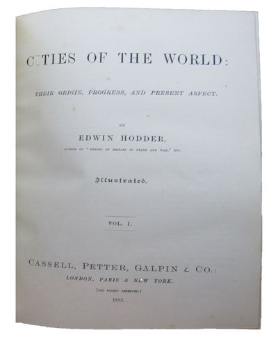 Image for Cities of the World: Their origin, progress, and present aspect.  Illustrated. Four volume set.