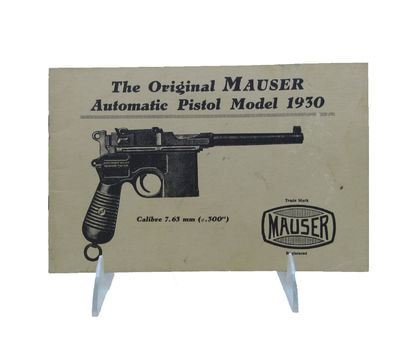 "Image for [Catalogue for] The Original Mauser Automatic Pistol Model 1930. Calibre  7.63 mm (.300"")."