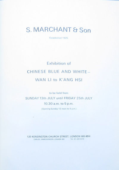 Image for Exhibition of Chinese Blue and White - Wan Li to K'ang Hsi.
