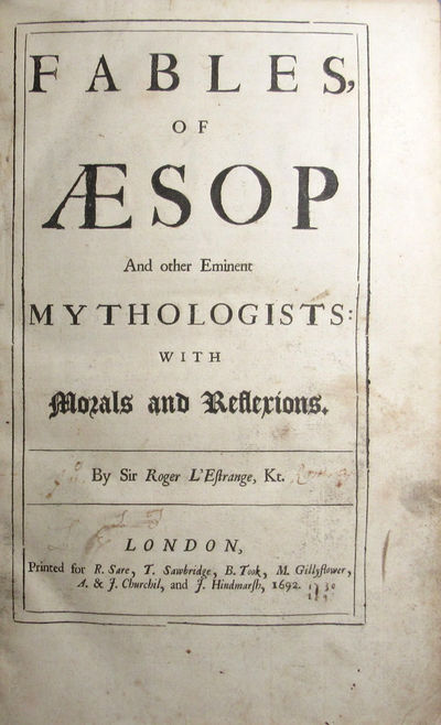 Image for Fables of Aesop and other Eminent Mythologists: With Morals and Reflexions.