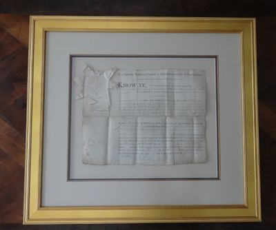 Image for Signed; partially printed, partially manuscript Document of Supreme  Executive Council of the Commonwealth of Pennsylvania.