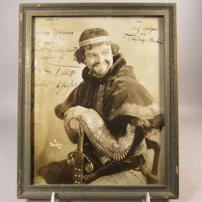 Image for Autographed photograph of Lawrence Tibbett