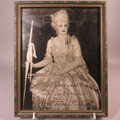 Image for Autographed photograph of Marion Talley