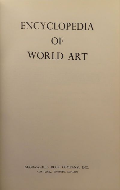 Image for Encyclopedia of World Art (17 Volume) in a fine binding
