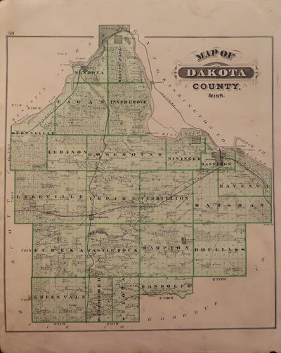 Image for Map of Dakota County ;Map of Hastings