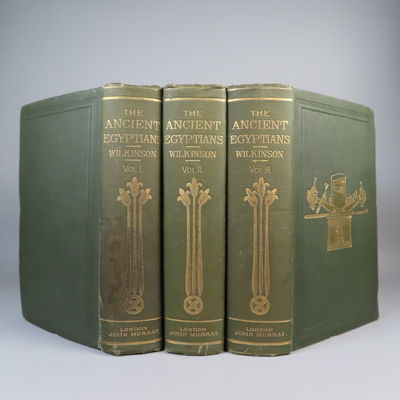 Image for The Manners and Customs of the Ancient Egyptians 3 Volume Set