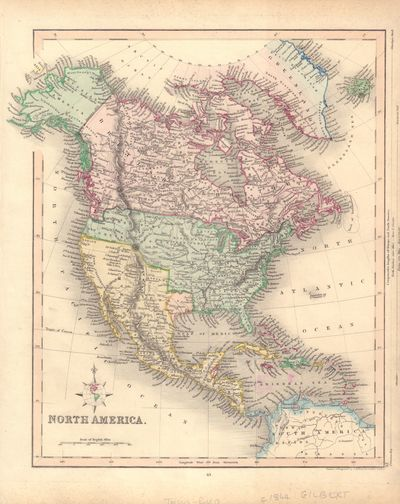 Image for Hand-Colored Map of North America (Texas as an Independent Republic)
