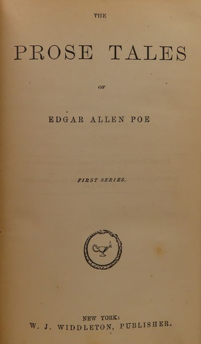 Image for The Prose Tales of Edgar Allen [sic] Poe First Series, Second Series