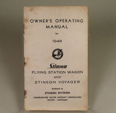 Image for Owner's Operating Manual for 1948. Flying Station Wagon and Stinson Voyager