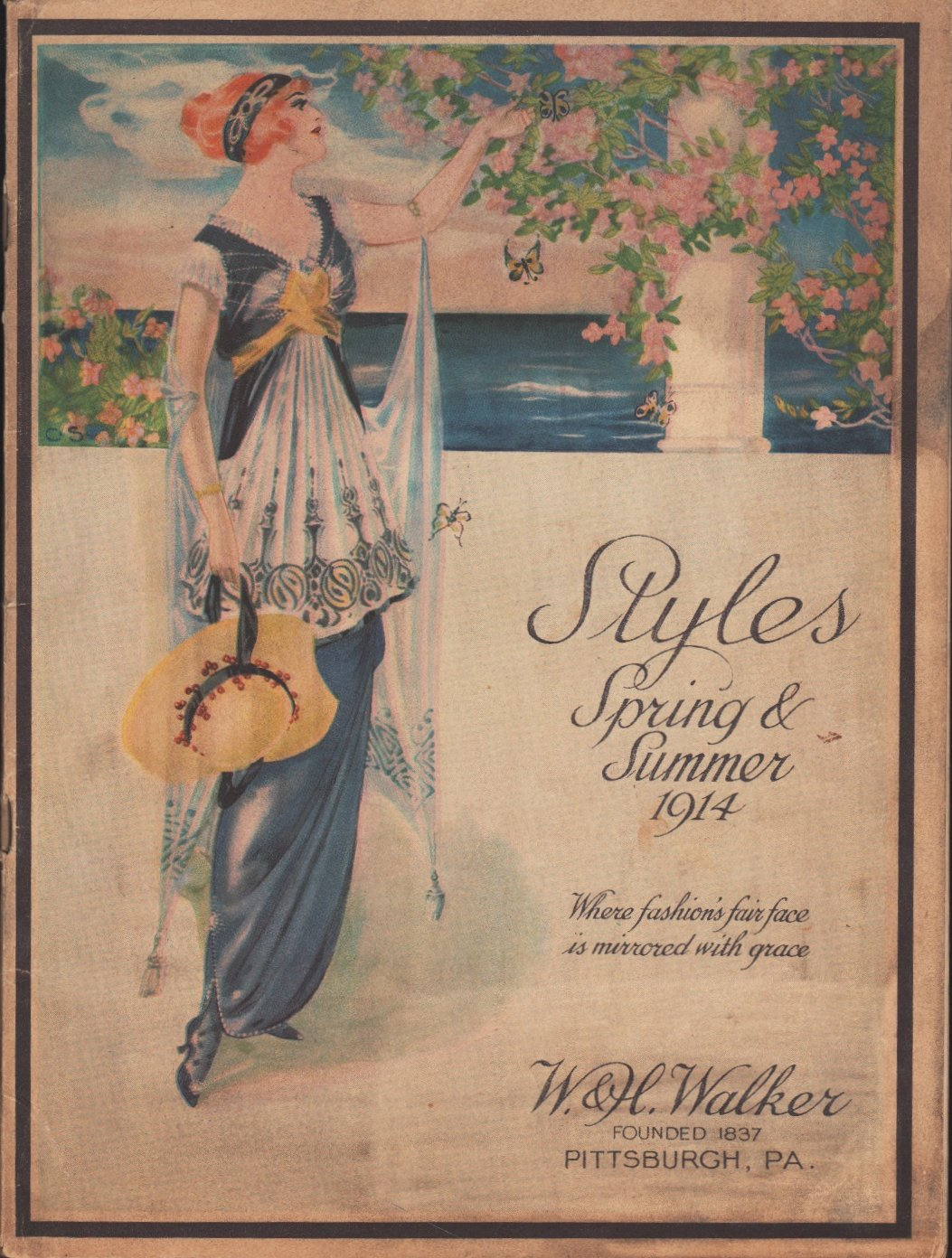 Image for Styles Spring & Summer 1914 Where fashion's fair face is mirrored with grace