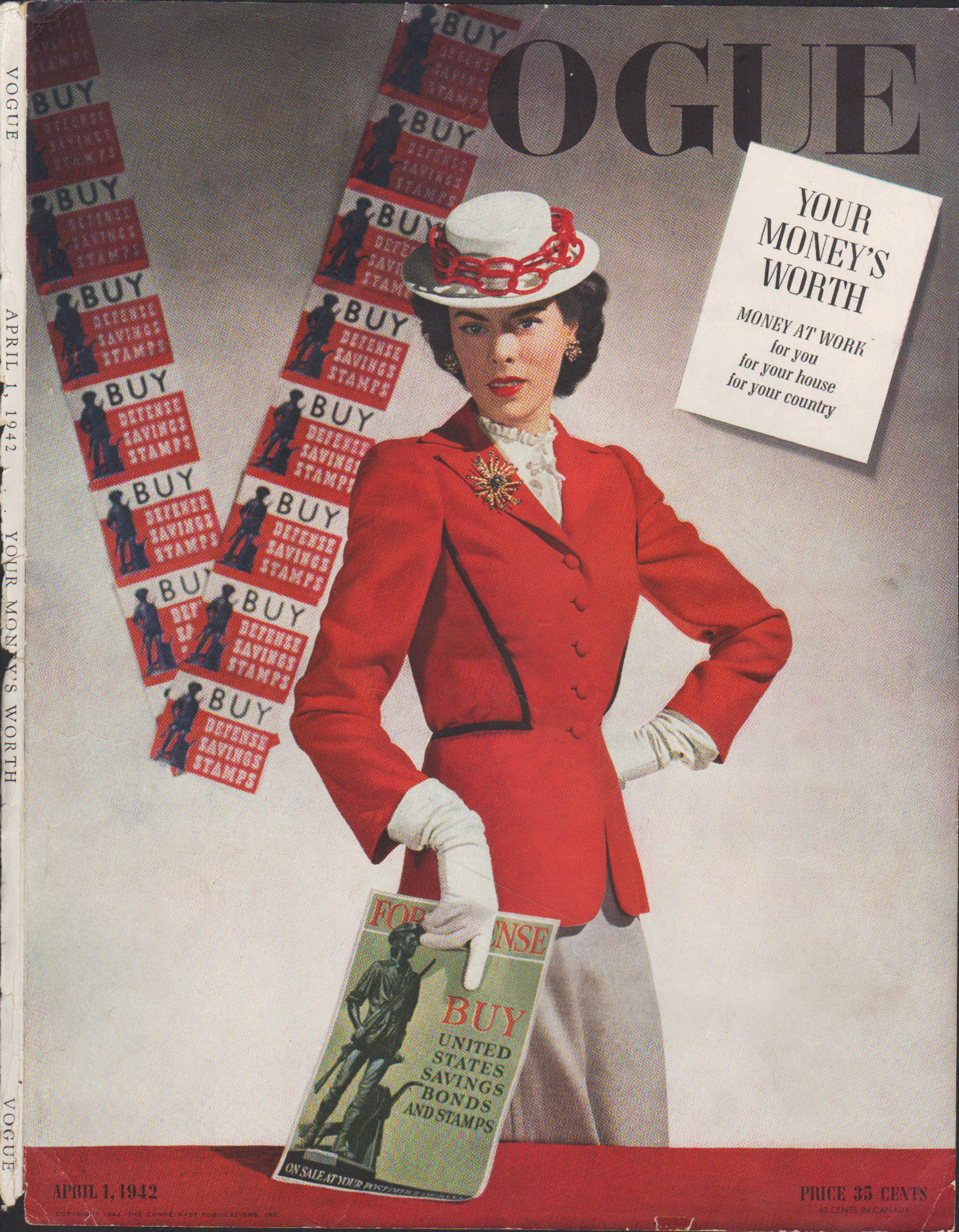 "Image for ""Vogue Magazine, April 1, 1942  - Cover Only"""