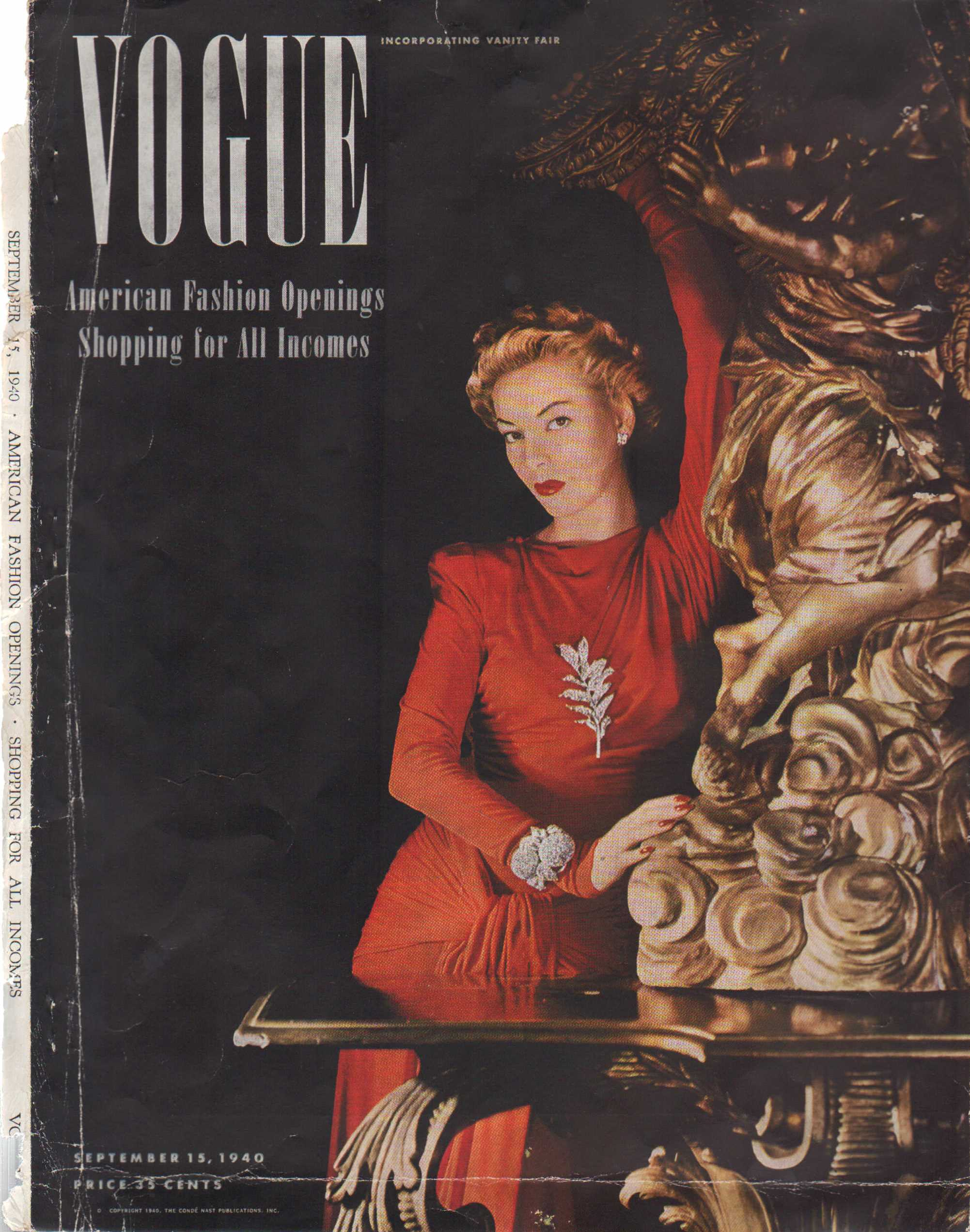 "Image for ""Vogue Magazine, September 15, 1940 - Cover Only"""