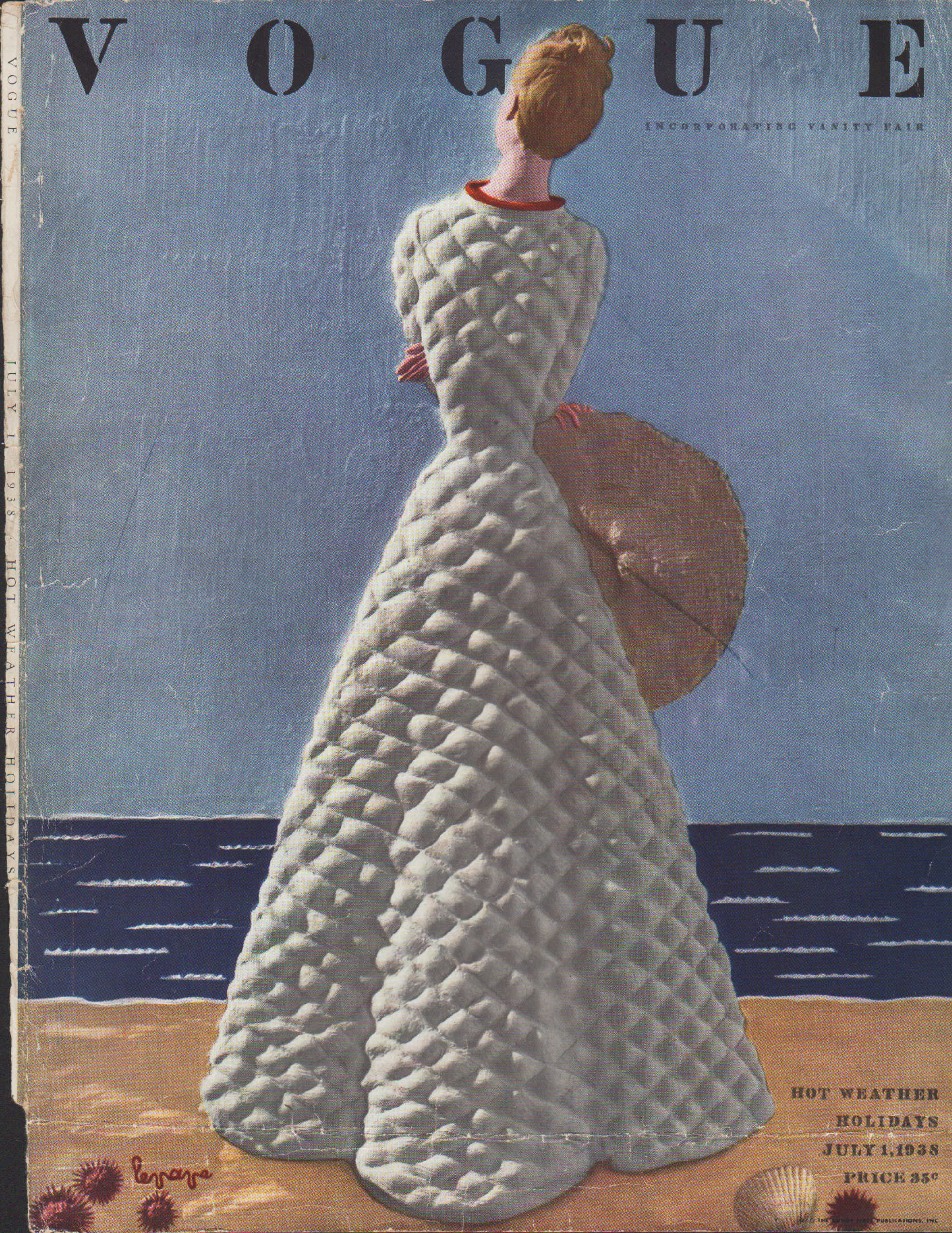 "Image for ""Vogue Magazine, July 1, 1938 - Cover Only"""