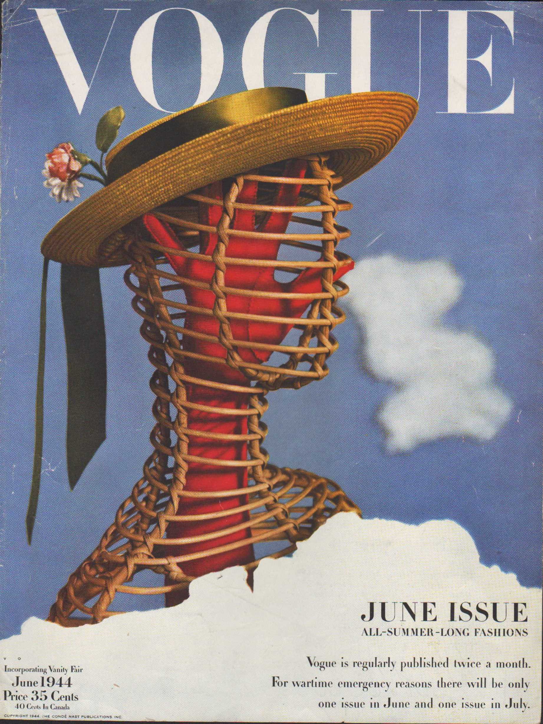 "Image for ""Vogue Magazine, June, 1944 - Cover Only"""