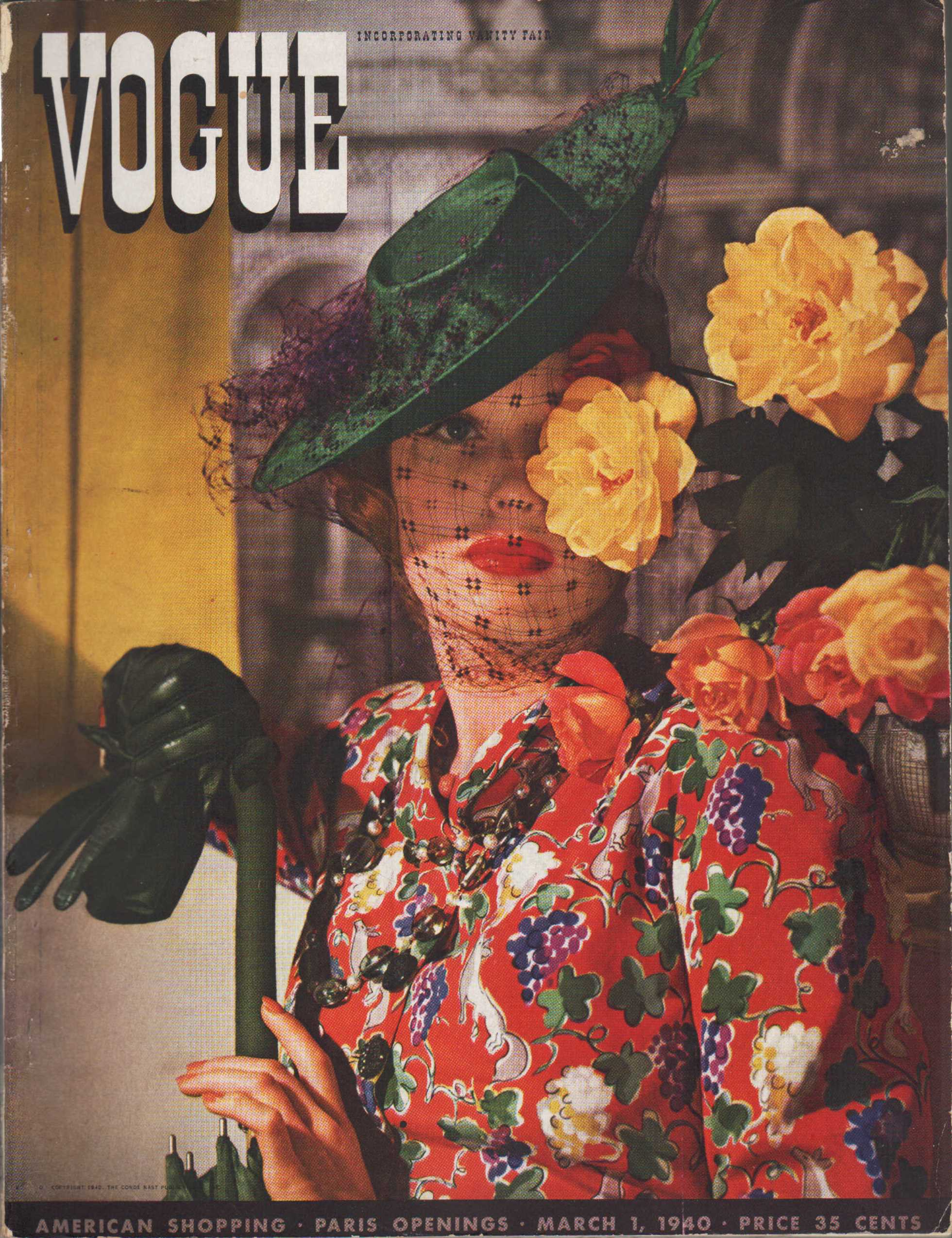 "Image for ""Vogue Magazine, March 1, 1940"""