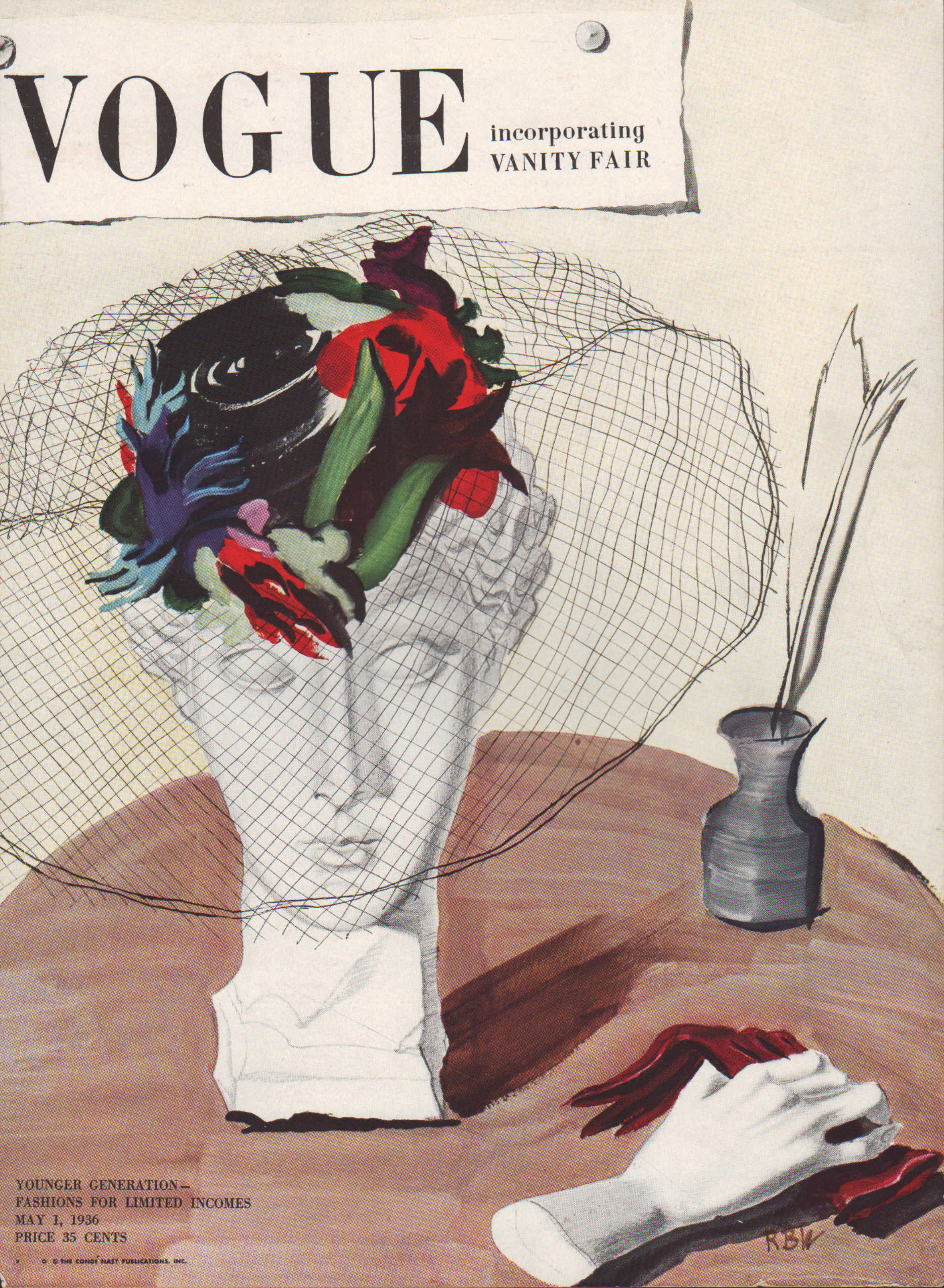 "Image for ""Vogue Magazine, May 1, 1936 - Cover Only"""