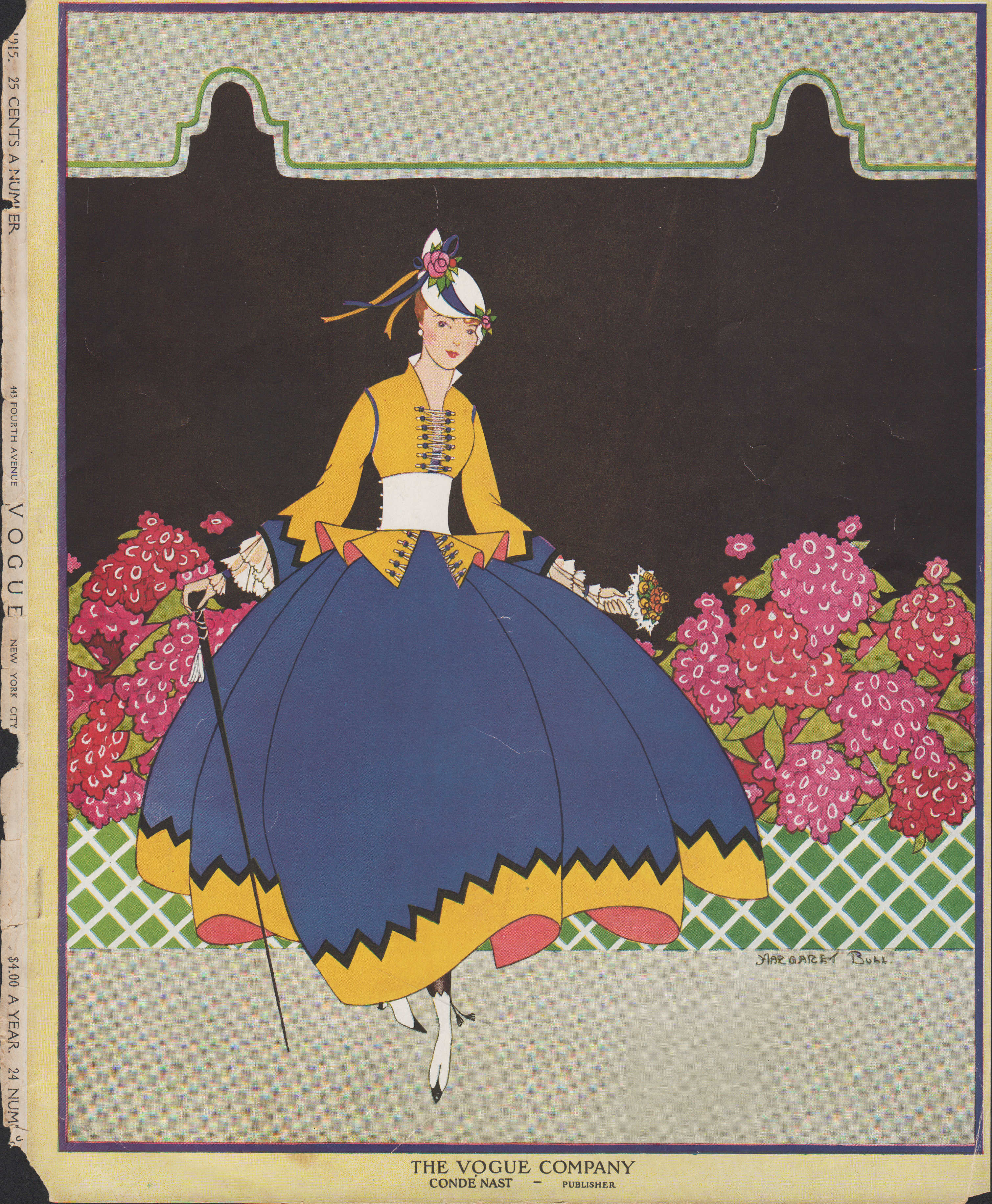 "Image for ""Vogue Magazine, July 15, 1915 - Cover Only. Sans text."""