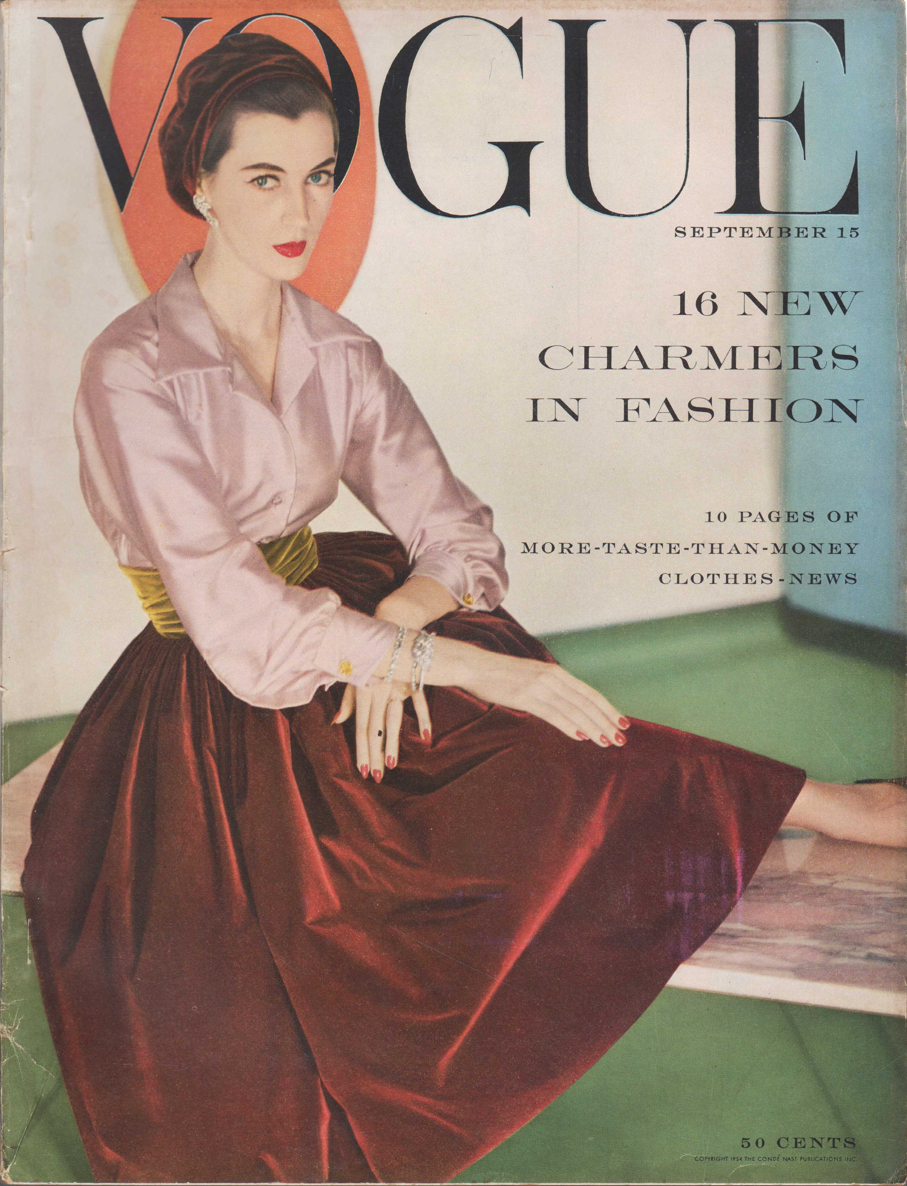 "Image for ""Vogue Magazine, September 15, 1954"""