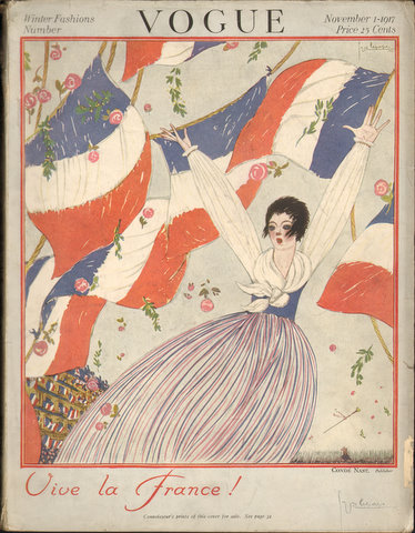 "Image for ""Vogue November 1st, 1917.  Winter Fashions Number.  (Magazine) Vive la France!"""