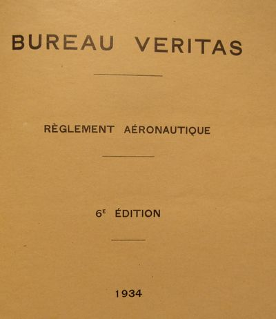 Image for Le Bureau Véritas : Registre international de classification de navires &  d'aéronefs. Reglement Aeronautique