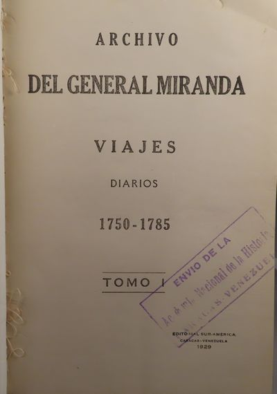 Image for Archivo del General Miranda. 24 volume set.