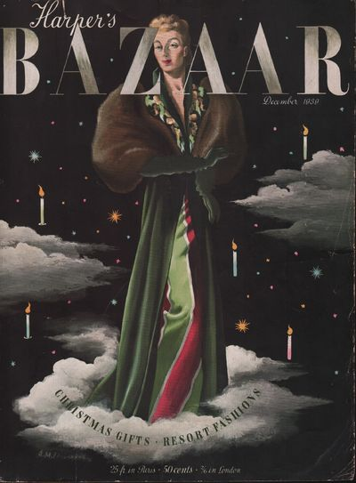 Image for Harper's Bazar (Harper's Bazaar) December, 1939 - Cover Only
