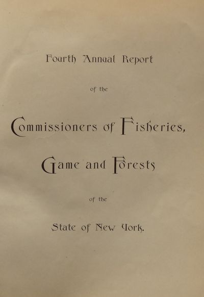 Image for Fourth Annual Report of the Commissioners of Fisheries, Game and Forests
