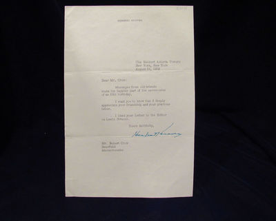 Image for Signed Letter from Herbert Hoover